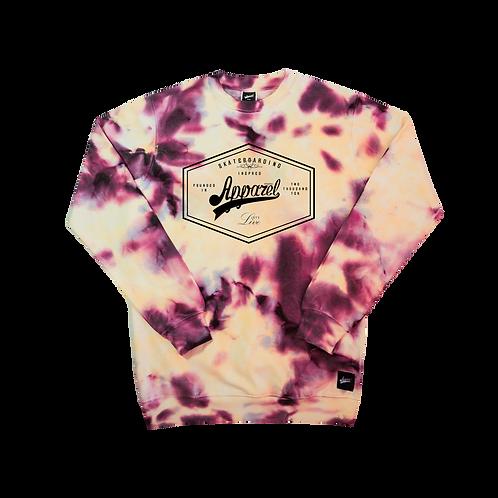 Sweatshirt Lozenge Yello/Burgundy