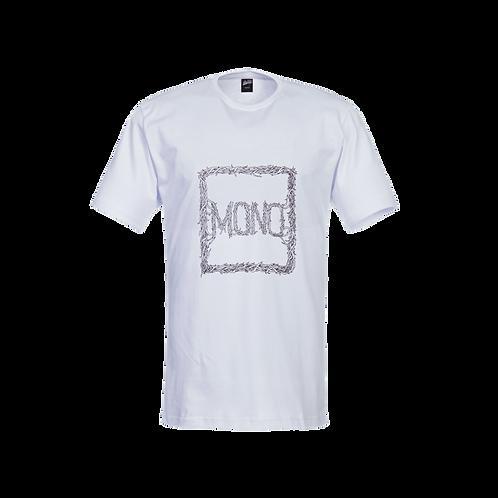 Tee Mono  White/Burgundy