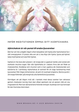 Infor meditationen Oppna ditt Hjartchakr