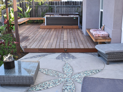 Creative Patio Landscape Design in Encinitas, CA