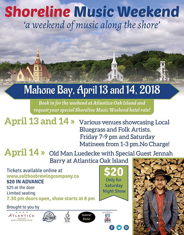 Shoreline Music Weekend poster from Twitter - Saltbox Brewing Company