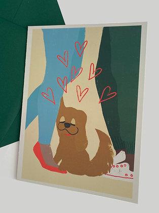 More Than Puppy Love Card