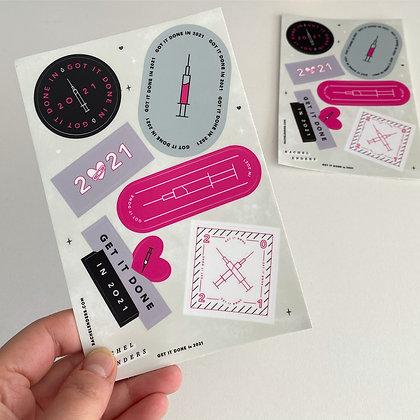 Covid VAX Sticker Sheet 1