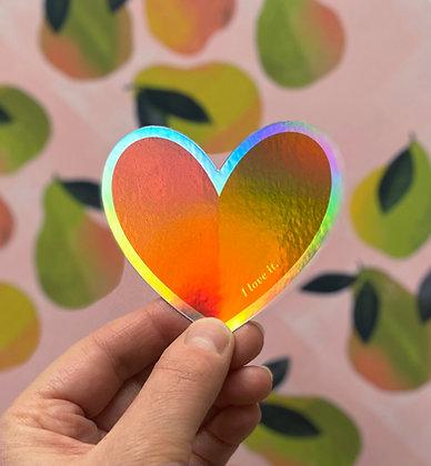 'I love it.' Heart Sticker