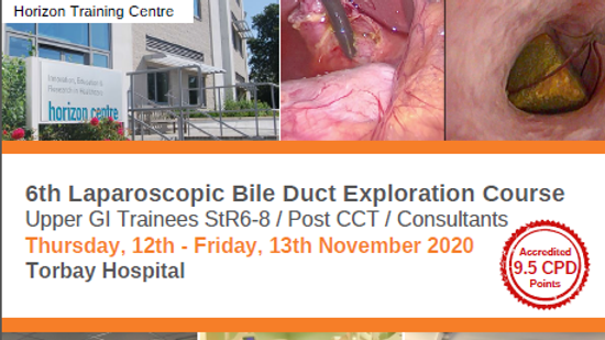 SOLD OUT 6th Laparoscopic Bile Duct Exploration Course
