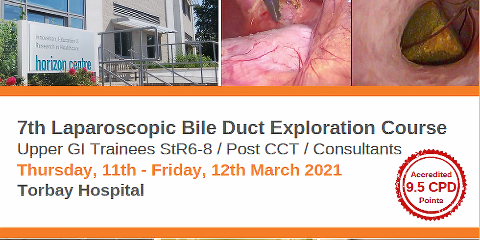SOLD OUT 7th Laparoscopic Bile Duct Exploration Course