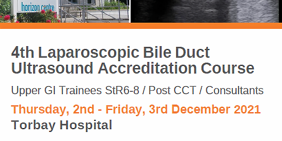 SOLD OUT 4th Laparoscopic Bile Duct Ultrasound Course