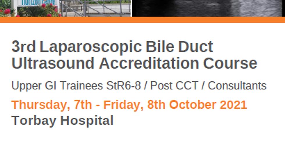 3rd Laparoscopic Bile Duct Ultrasound Course