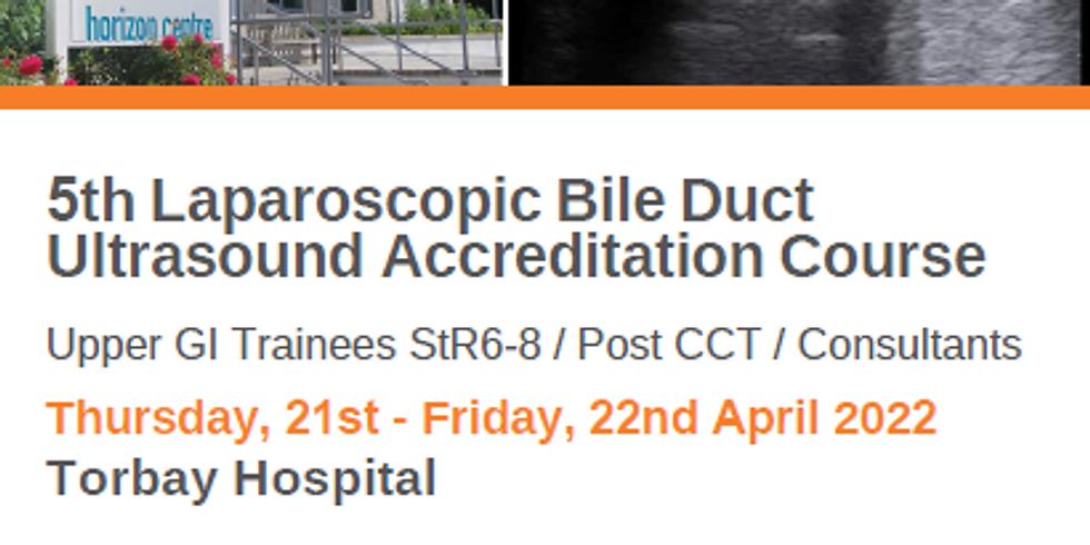 5th Laparoscopic Bile Duct Ultrasound Course