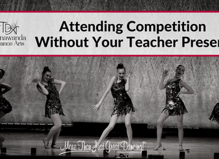 Attending Competition Without Your Teacher Present