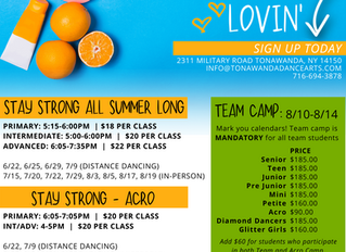 Summer Dance Classes | Ages 7+