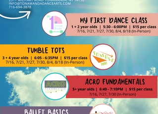 Summer Dance Classes | Ages 2-8
