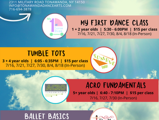 Summer Dance Classes | Ages 2-8