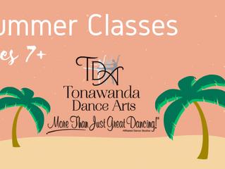 Summer Classes For Ages 7+  |  Tonawanda Dance Arts