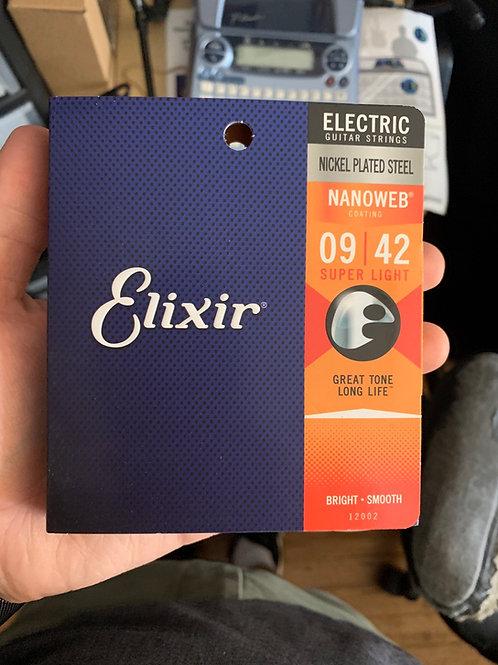 Elixir Nanoweb 9-Gauge Strings