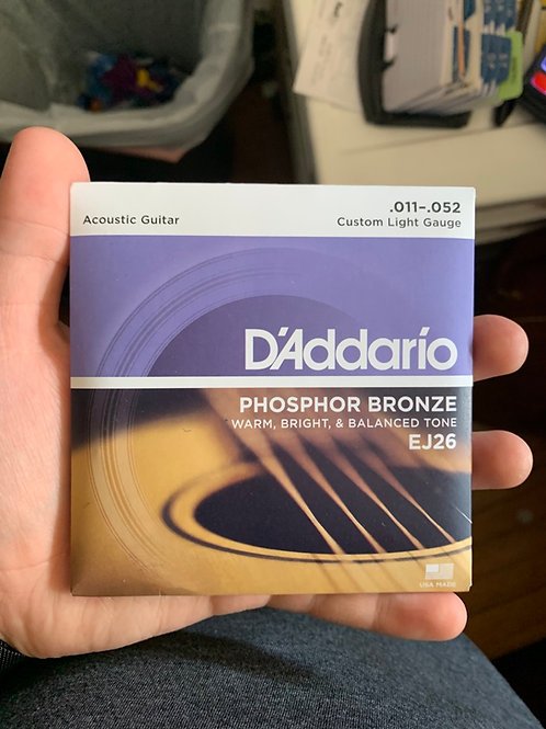 D'Addario 11-Gauge Acoustic Strings