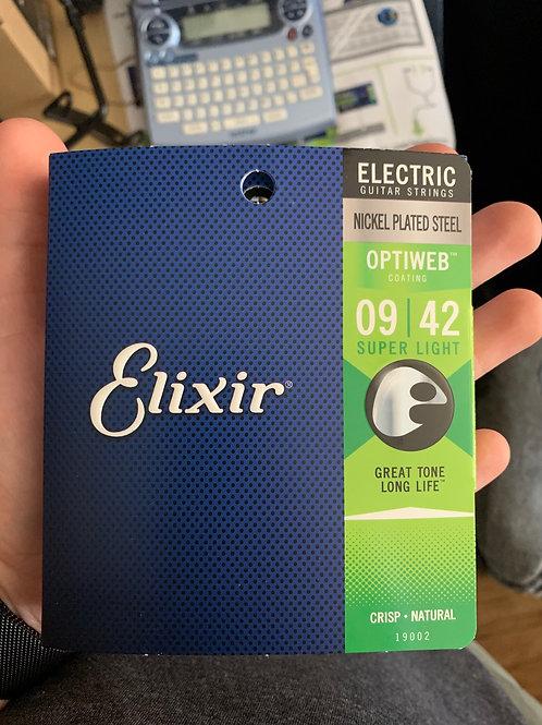 Elixir Optiweb 9-Gauge Strings