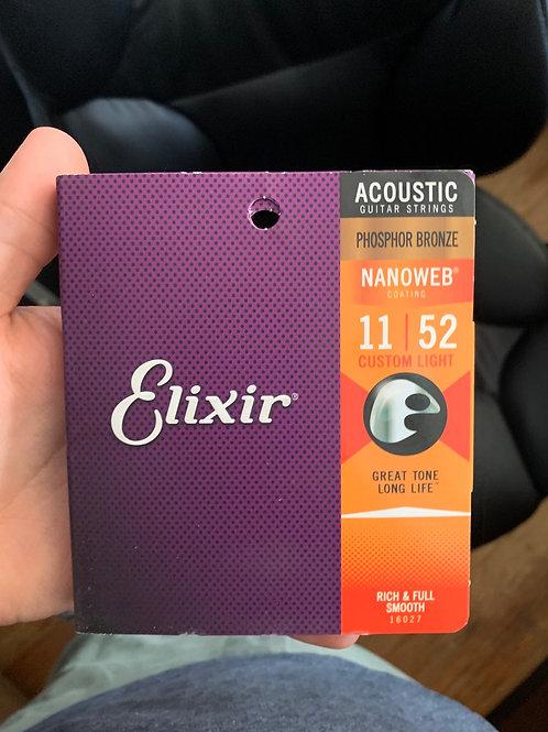 Elixir Nanoweb 11-Gauge Acoustic Strings