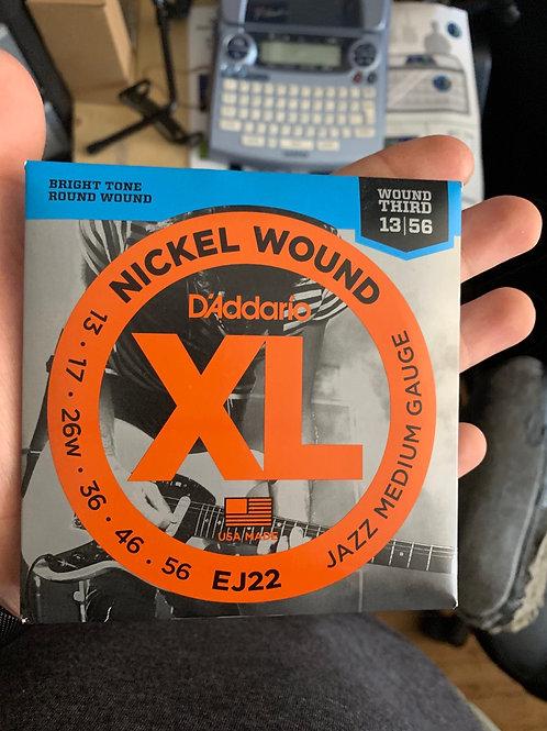 D'Addario 13-Gauge Strings (Wound Third)