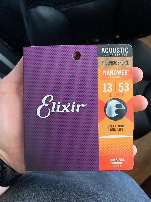 Elixir Nanoweb 13-Gauge Acoustic Strings