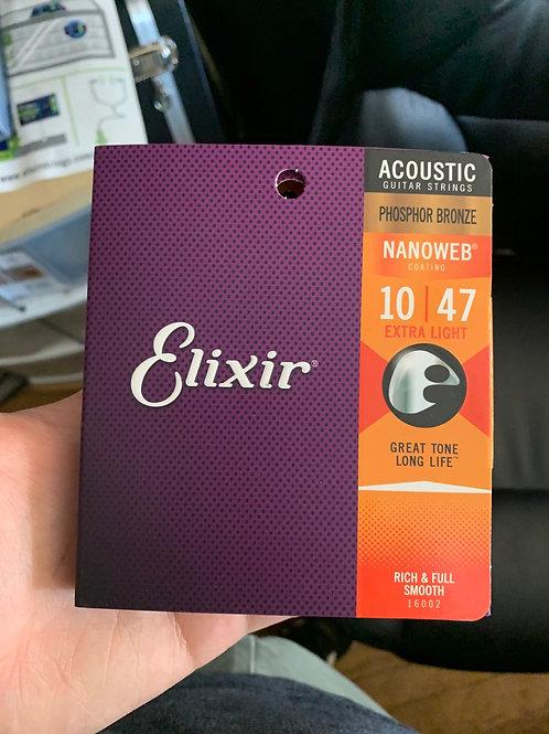 Elixir Nanoweb 10-Gauge Acoustic Strings