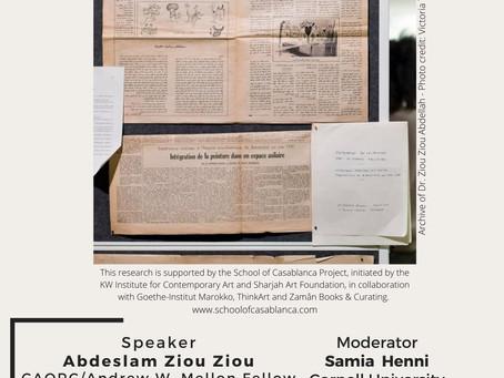 CAORC/Andrew W. Mellon Fellow, Abdeslam Ziou Ziou, to give virtual talk on March 25