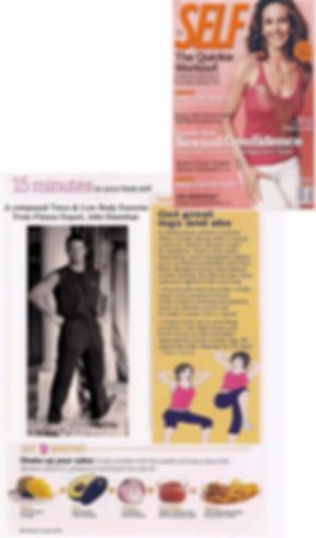 Self magazine The Quickie Workout Get Great Legs and Abs with Trainer John Hanrahan