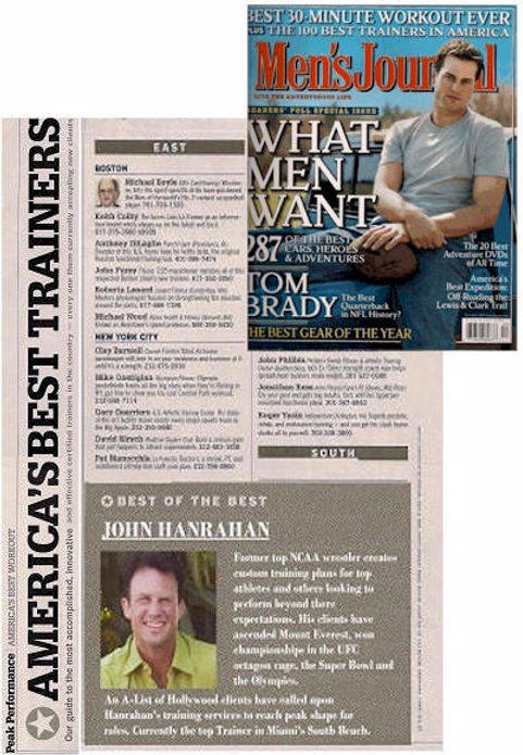 Mens Journal magazine America's Best Trainers John Hanrahan