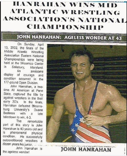 Wrestling Round-Up John Hanrahan Ageless Wonder MAWA E National Open Champion