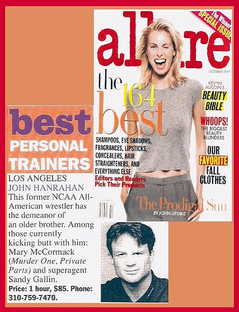 Allure magazine Best Personal Trainer of Los Angeles John Hanrahan