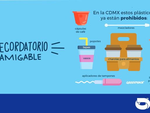 2021: CDMX libre de plásticos