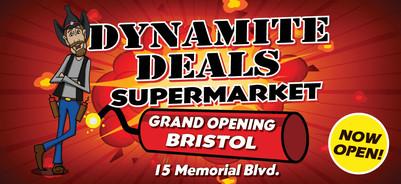 Dynamite Deals Billboard on I-84