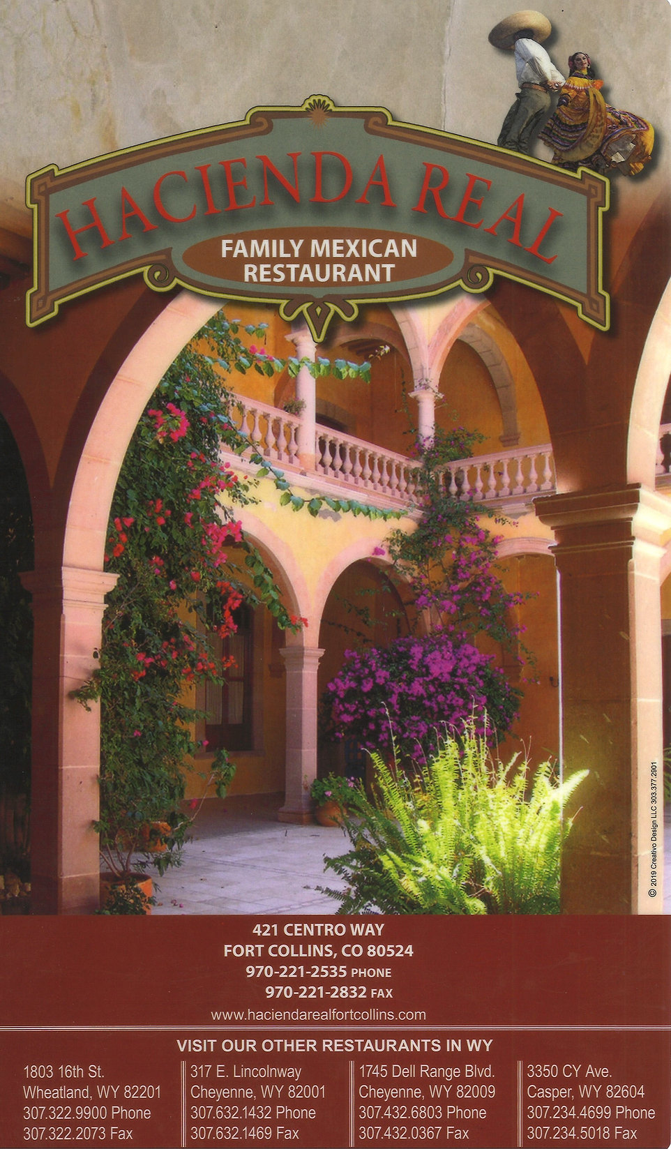 Hacienda Real Menu