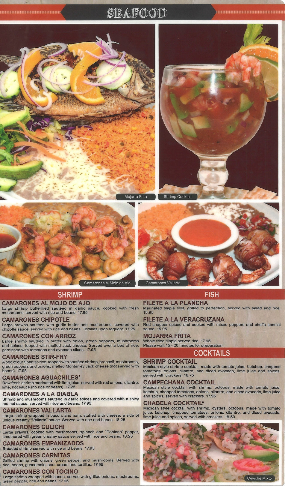 Hacienda Real Menu_ Seafood
