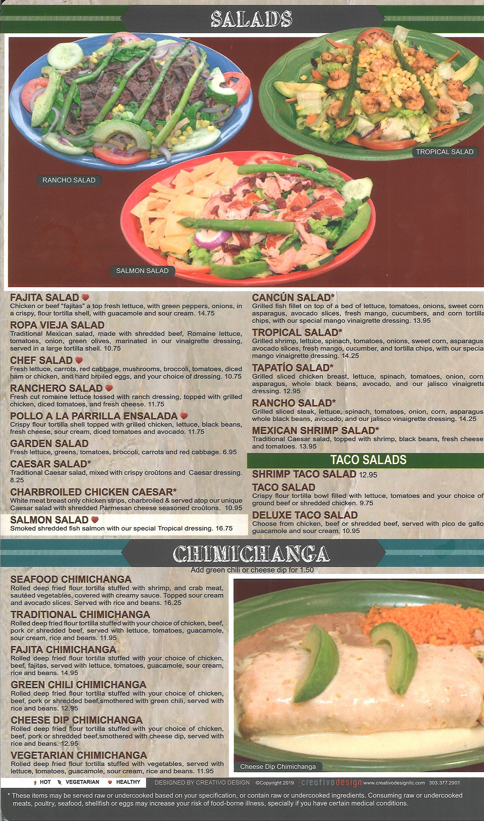 Hacienda Real Menu/Salad