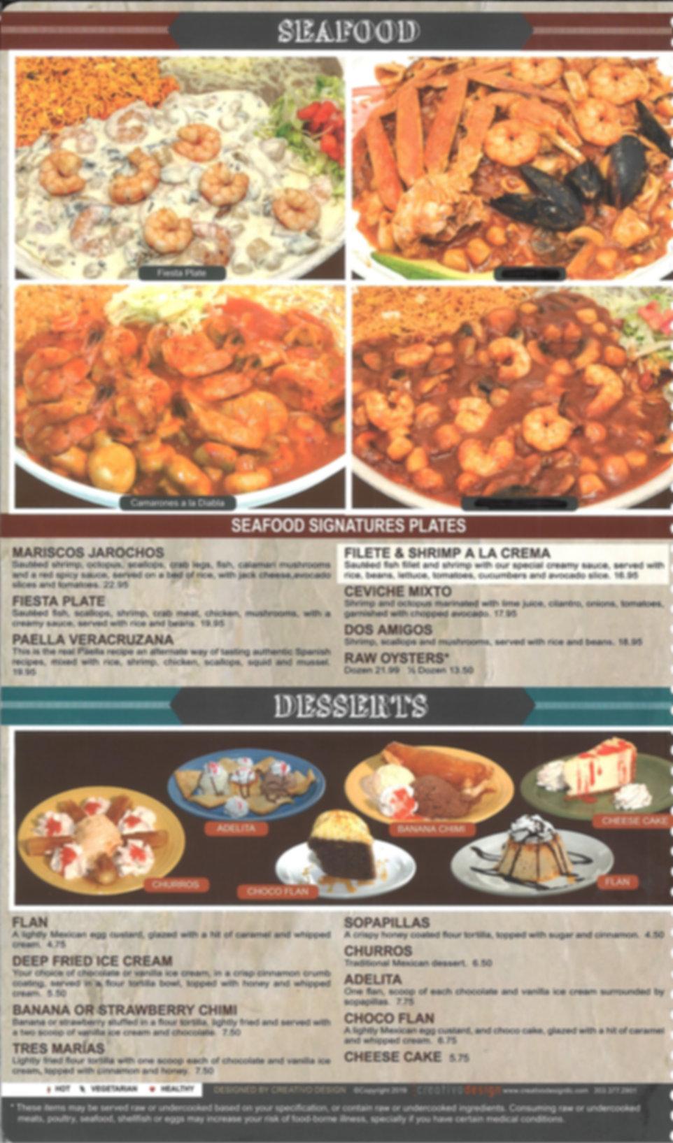 Hacienda Real Menu_ Seafood