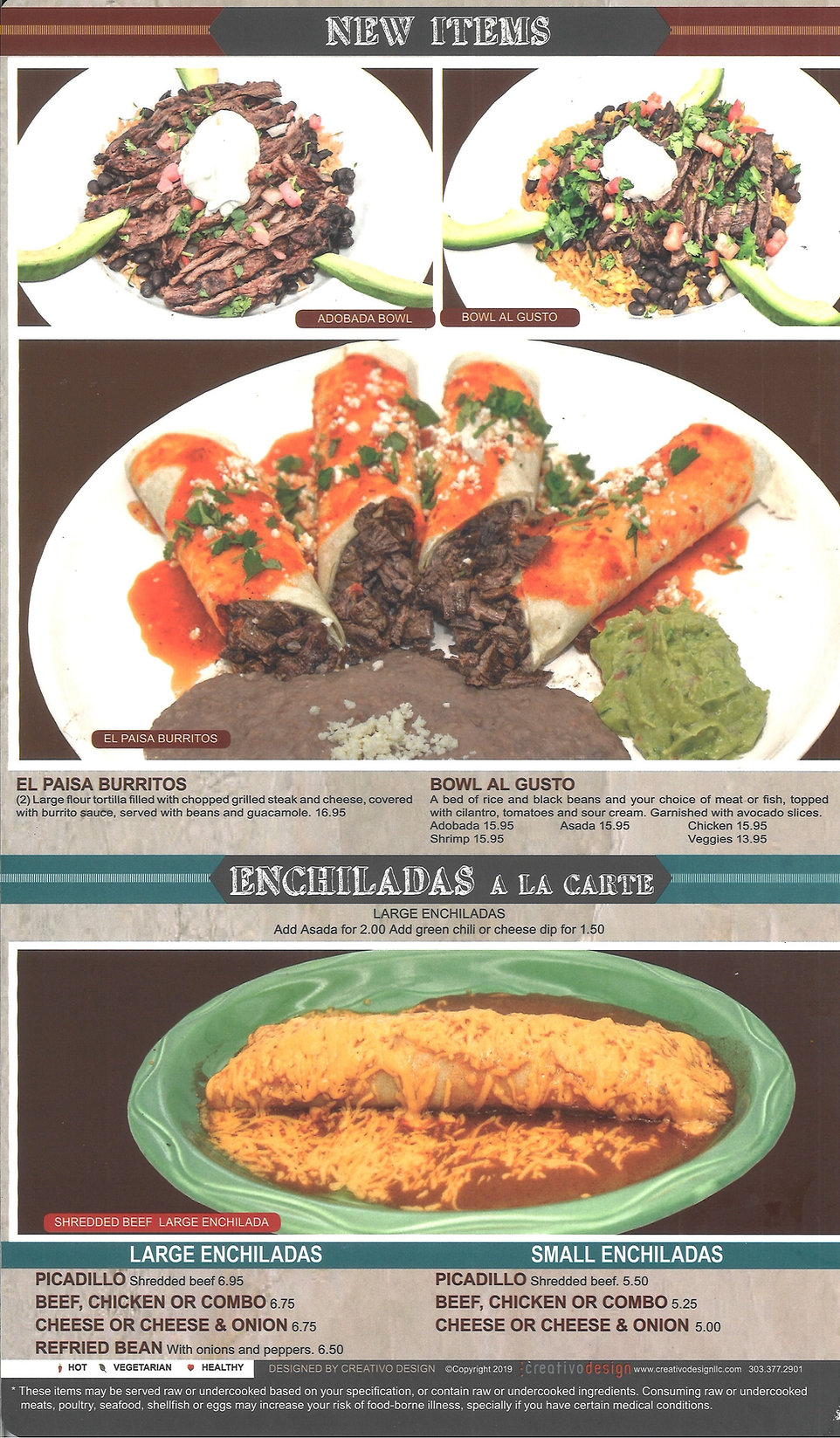 Hacienda Real Menu_New Items