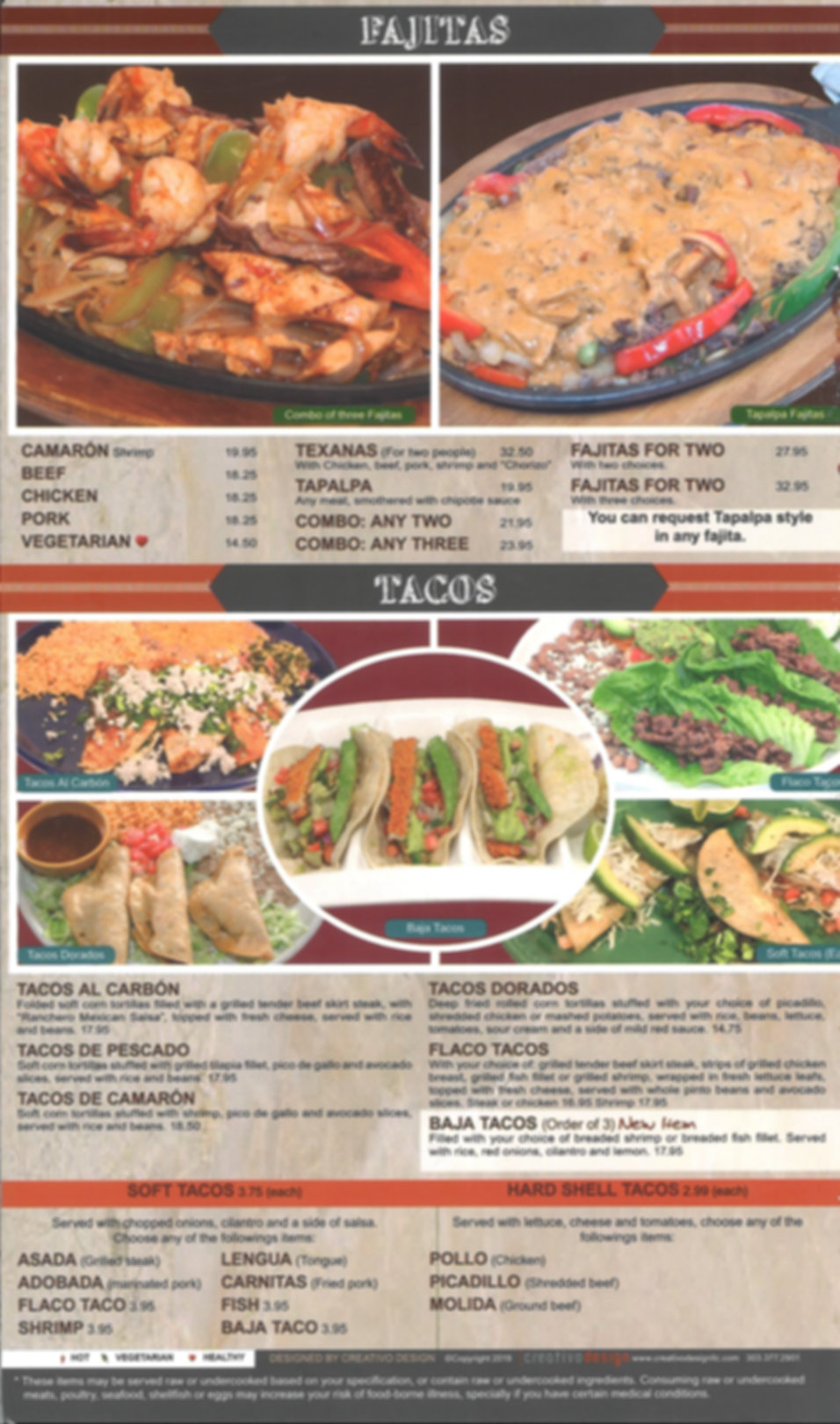 Hacienda Real Menu_Fajitas