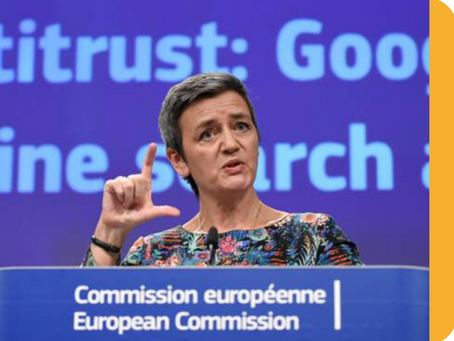 Why is Google having an illegal behavior under EU competition rules?