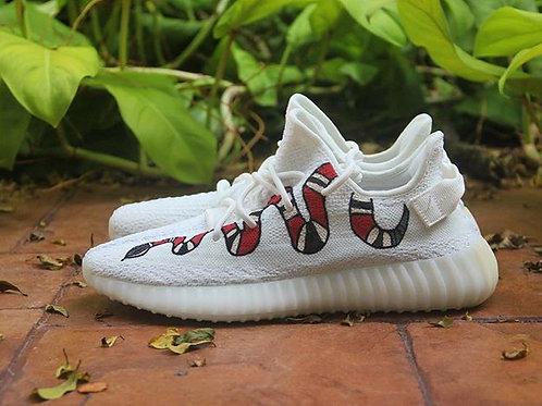 Adidas Yeezy 350 v2 White Gucci Snake
