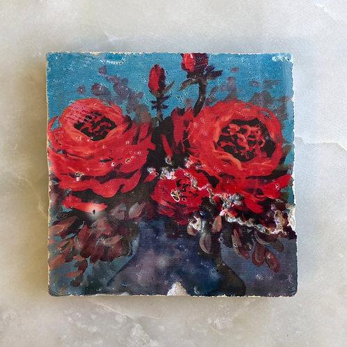 """Moxy"" by Jennifer Lanne ~ Natural Stone Tile"