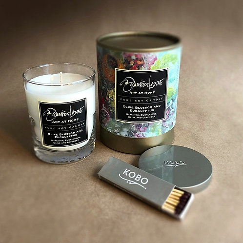 """Olive Blossom & Eucalyptus"" Pure Soy Candle"