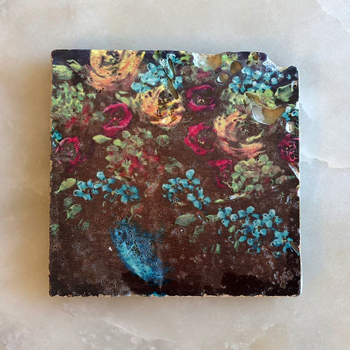 """Night Shade"" by Jennifer Lanne ~ Natural Stone Tile"