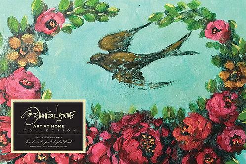"""""""Lavish Retreat"""" by Jennifer Lanne ~ Pad of 50 Placemats"""