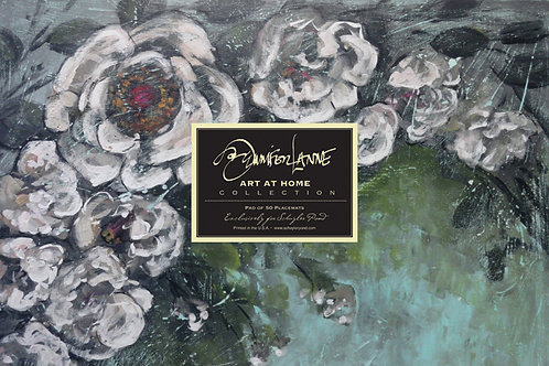 """Porcelain Arbor"" by Jennifer Lanne ~ Pad of 50 Placemats"