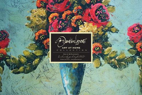 """Parisian Urn"" by Jennifer Lanne ~ Pad of 50 Placemats"