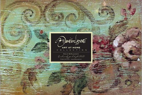 """Patina"" by Jennifer Lanne ~ Pad of 50 Placemats"