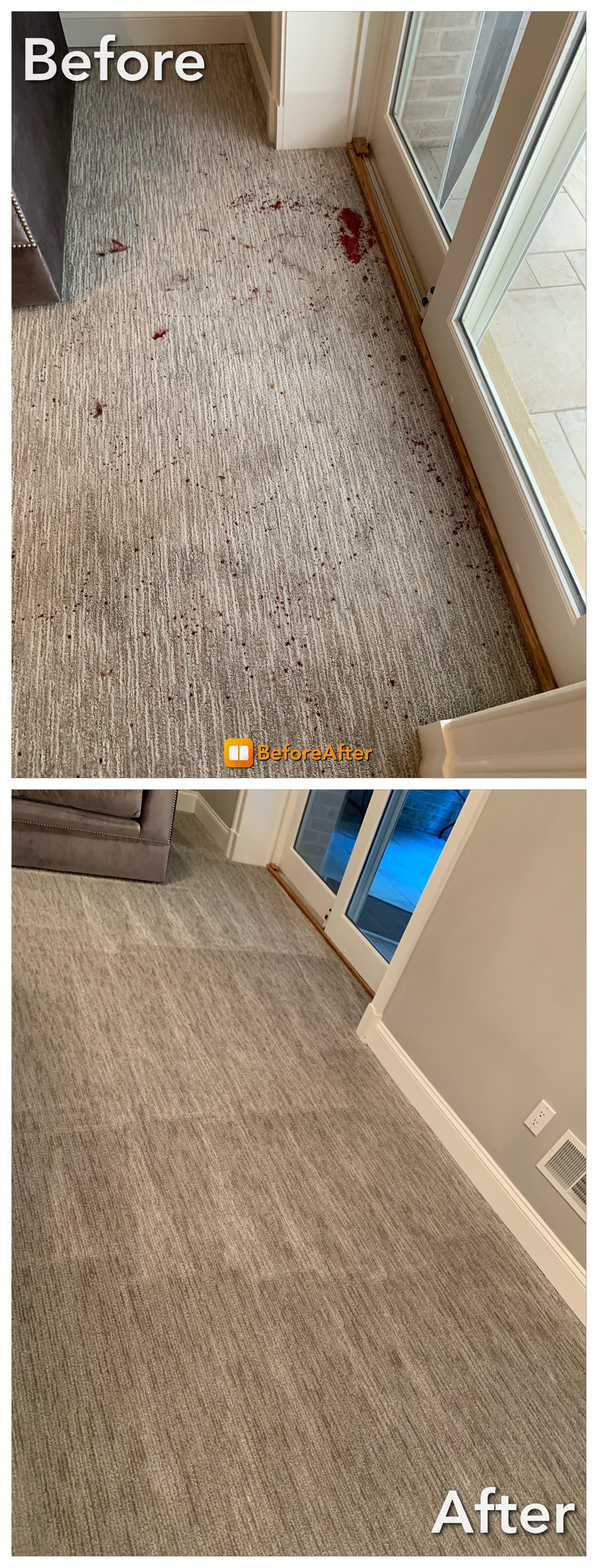 Carpet Cleaning - Blood Stains