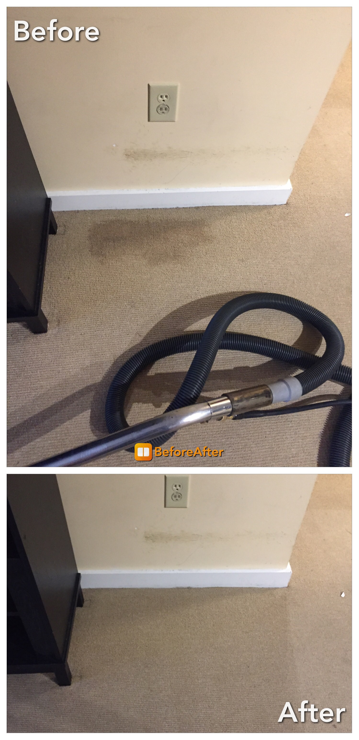 Carpet Cleaning - Coffee  Stain