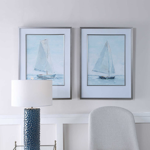 SEAFARING FRAMED PRINTS, S/2